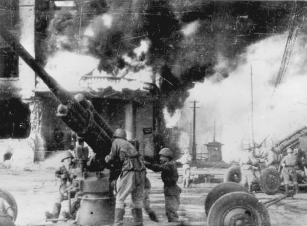 Сталинград. Наши зенитчики